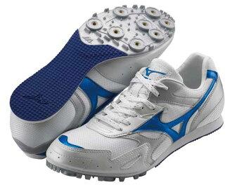 MIZUNO美津濃 田徑釘鞋(白*藍 男女同款) TMC SPLIT 2 中長距離 7mm