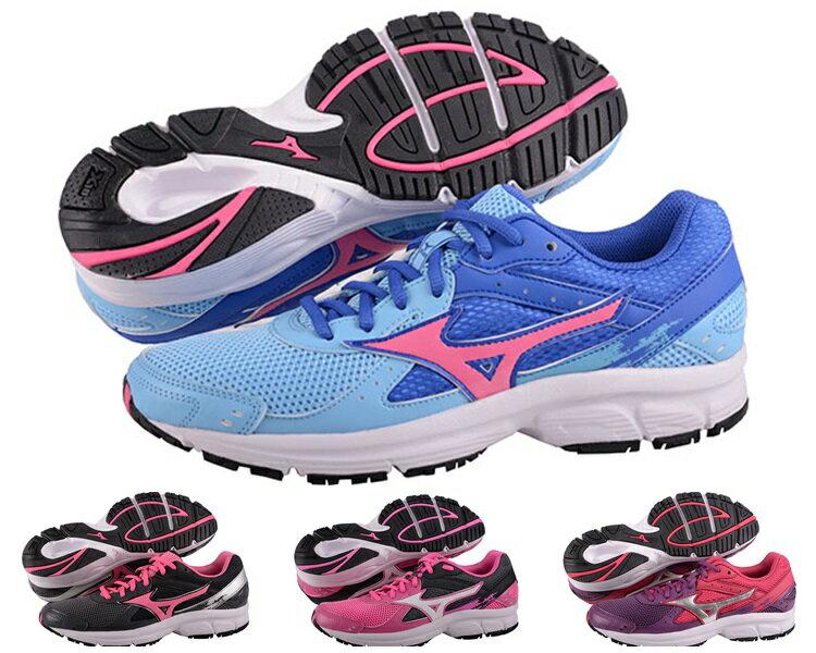 MIZUNO美津濃 EMPOWER 女慢跑鞋(天藍*粉紅) 全新輕量一般型鞋款