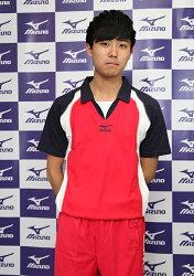 MIZUNO美津濃 排球衣(紅*白*深藍XL/XXL) 含棉成分 質感舒適 立領運動服 排球服 運動排汗衣