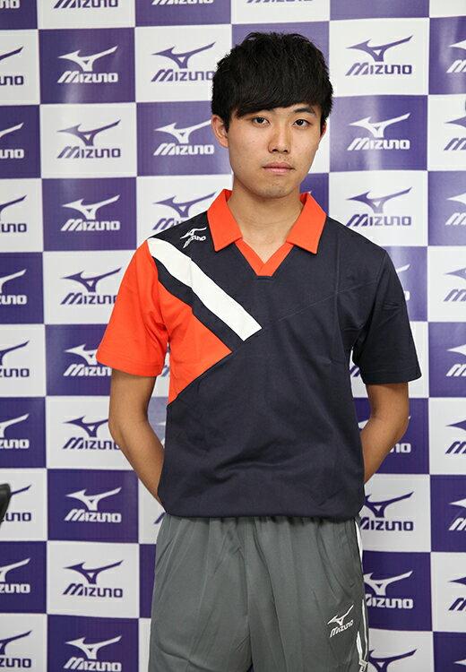 MIZUNO美津濃 排球衣(丈青*白*橘) 含棉成分 排球校隊 立領運動服 排球服 運動排汗衣