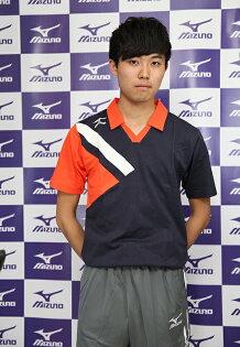 MIZUNO美津濃排球衣(丈青*白*橘)含棉成分排球校隊立領運動服排球服運動排汗衣