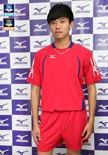 MIZUNO美津濃男排球衣(紅色XL~3XL)排汗運動服排球服運動排汗衣球隊專用
