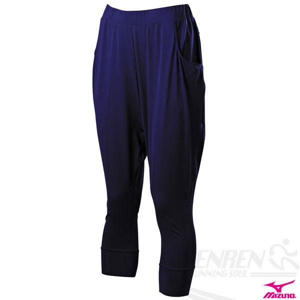MIZUNO 美津濃 女瑜珈褲(丈青) 飛鼠褲設計 吸汗快乾 2014新款 K2TB4C1614