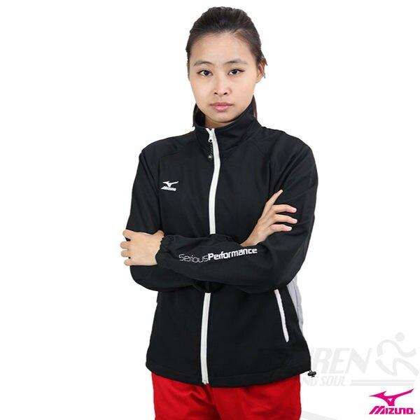 MIZUNO美津濃 女針織運動外套(黑) 吸溼排汗