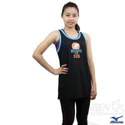 MIZUNO美津濃 吸溼排汗運動背心(黑)。85HM-10109 女可穿S.M號