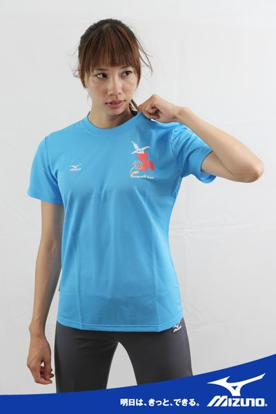 MIZUNO美津濃吸汗速乾衫T恤(藍),85TW-11118