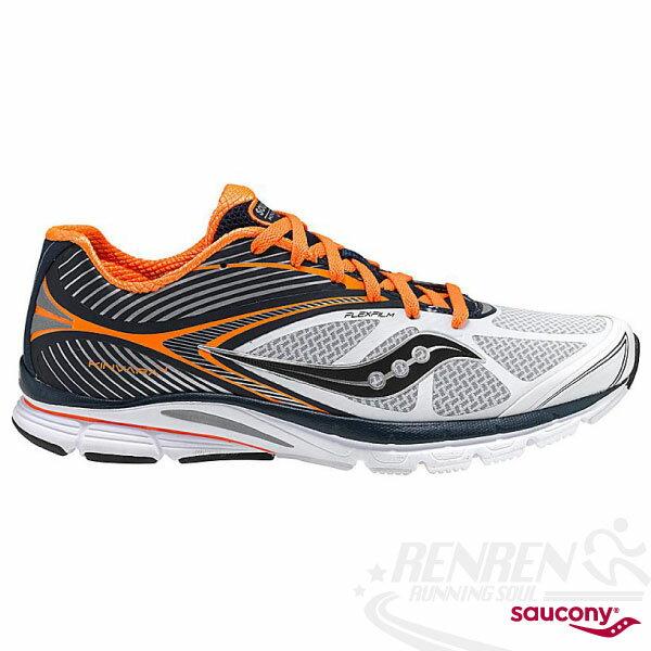 SAUCONY 自然3系列 KINVARA 4 男輕量慢跑鞋(橘/灰/白) PowerGrid 輕量緩衝避震 SY20197-1 免運