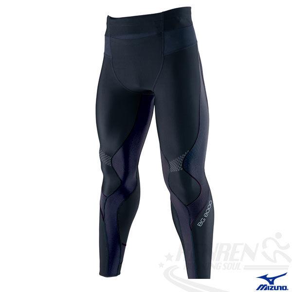 MIZUNO美津濃 BIO GEAR BG8000男全長緊身褲(黑) 膝蓋小腿肌肉支撐力 A60BP-27590