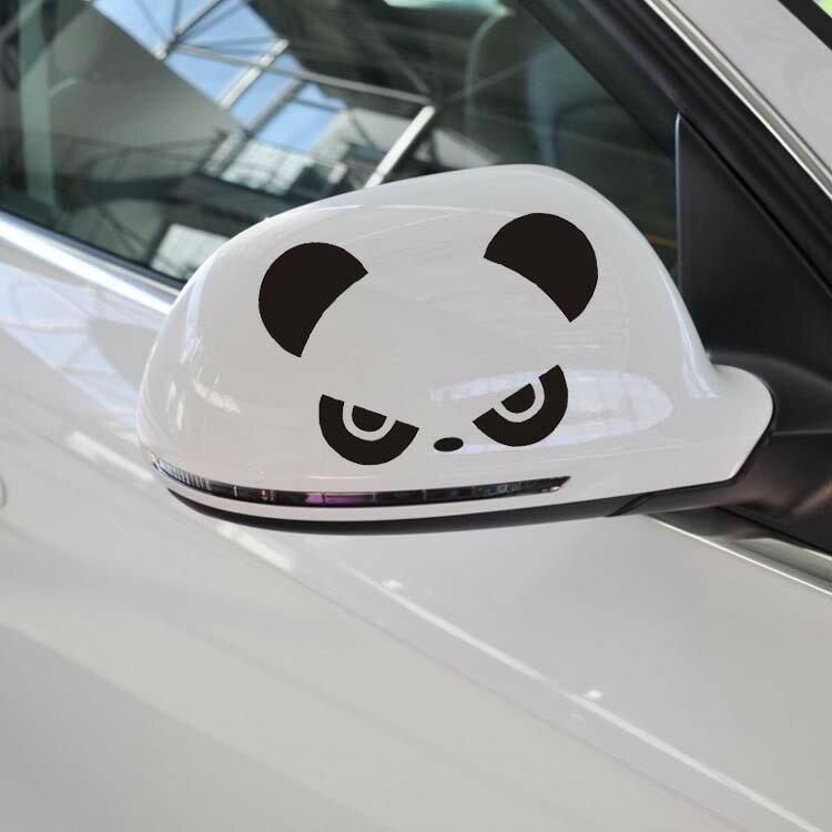 A0163 熊貓 後視鏡貼 車身 貼紙 機車貼 燈眉貼 BMW BENZ FORD MAZ