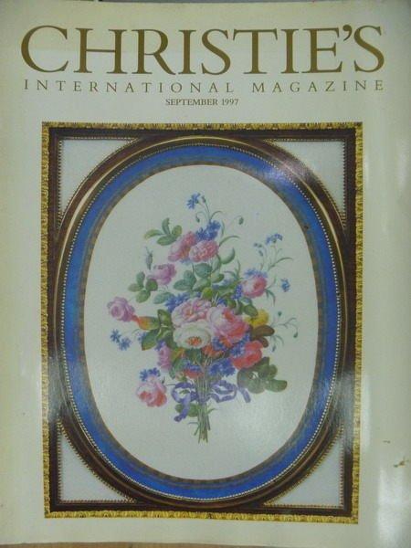 【書寶二手書T4/收藏_YCT】Christie's International Magazine_1997/9