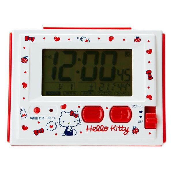 【真愛日本】18022300022多功能電波鬧鐘-KT牛奶ABY三麗鷗kitty凱蒂貓鬧鐘時鐘