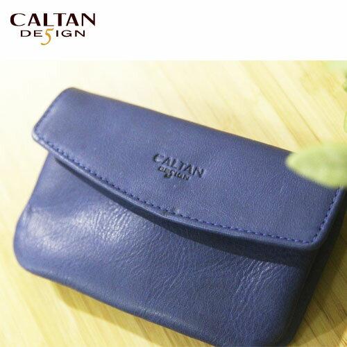 牛皮/零錢包-CALTAN-輕巧隨身卡片真皮小錢包--2097ht-blue