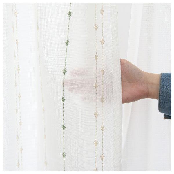 蕾絲窗簾 G CORAL YGR 150×228×1 NITORI宜得利家居 4