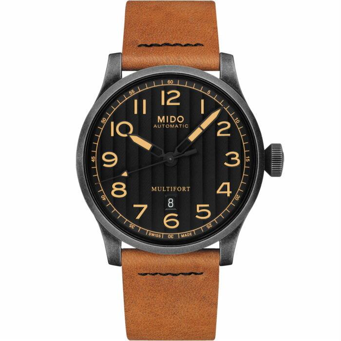 Mido 美度錶 M0326073605099 Multifort Escape Horween特別版瑞士腕錶/黑 44mm