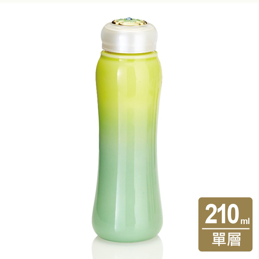 《乾唐軒活瓷》吉星幸福一手瓶 / 小 / 單層 / 黃綠 / 施華洛世奇元素