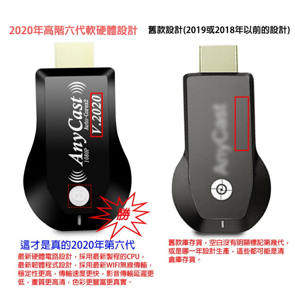 【2020年版e科技】六代AnyCast全自動HDMI無線影音鏡像器(送4大好禮)