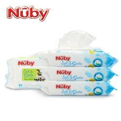 Nuby 全棉柔濕巾(80抽)-單包入★衛立兒生活館★