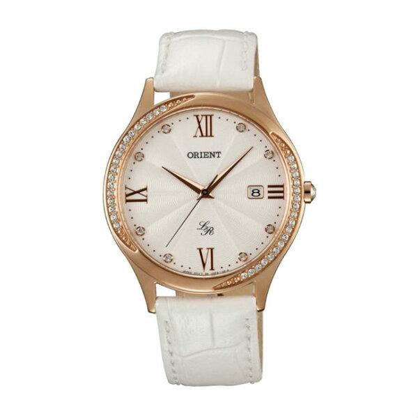 ORIENT東方錶LADYROSE系列(FUNF8002W)浪漫滿屋石英腕錶皮帶款白色36.5mm