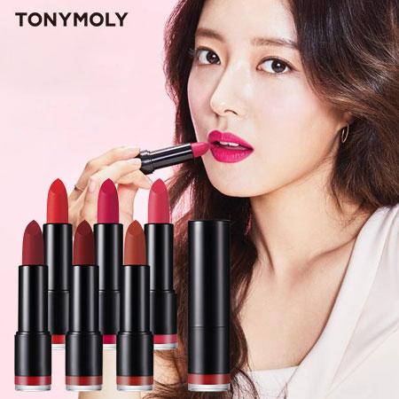 韓國 TONYMOLY 完美絲絨唇膏 3.5g 口紅 唇彩 唇膏 黑管唇膏 霧面 平價MAC【B062904】