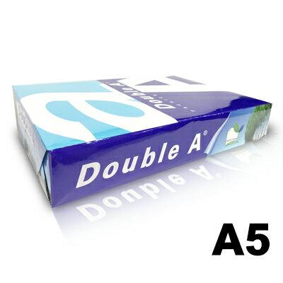【文具通】Double A 達伯埃 影印紙 噴墨 雷射 影印 A5 80gsm 白色 500張/2包入 含稅價 P1410583