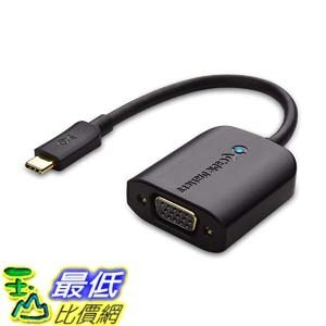 [7美國直購] 適配器 Cable Matters USB C to VGA Adapter (USB-C to VGA Adapter) 201017-BLK B00X4S58LQ _E37