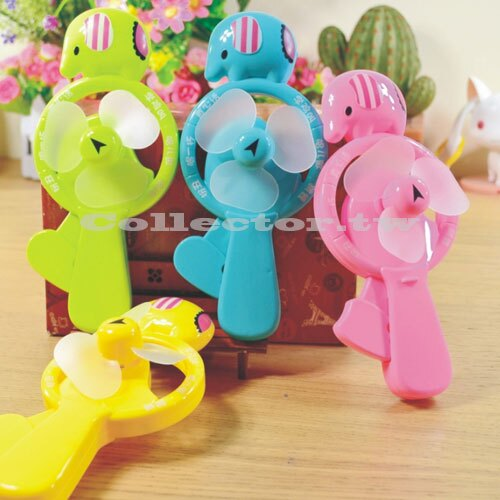 【C16060401】小象迷你手壓風扇 便攜式手動風扇 轉盤遊戲手動風扇
