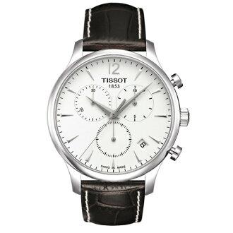 TISSOT天梭T0636171603700 TRADITION經典計時石英腕錶/白面42mm