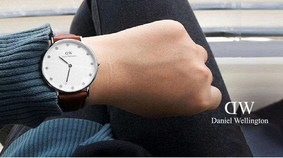 瑞典正品代購 Daniel Wellington 0960DW  銀 玫瑰金  真皮 錶帶 男女錶 手錶腕錶 34MM 2