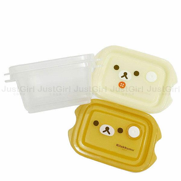 懶懶熊 拉拉熊 Rilakkuma 保鮮盒 收納盒 置物盒 2入240ml 餐具 正版日本製造進口 JustGirl