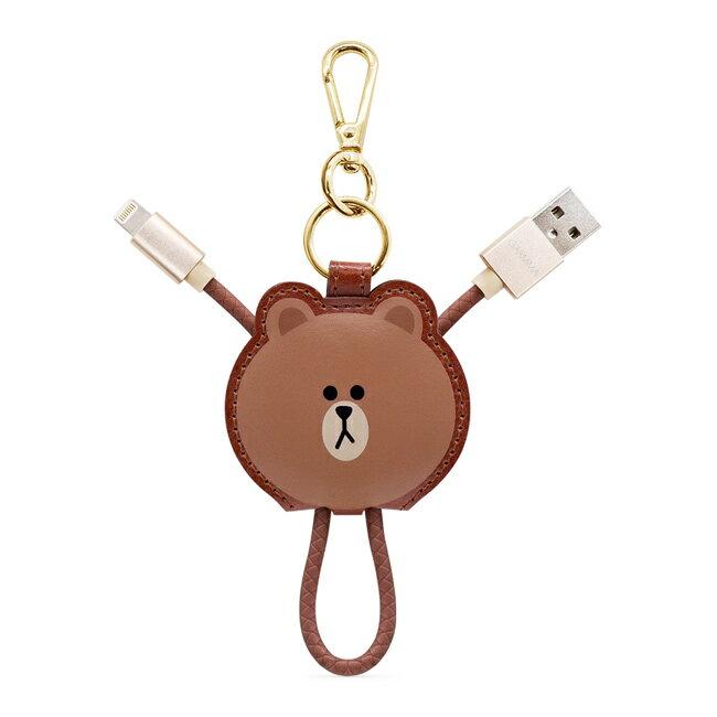 GARMMA LINE Friends Apple Lightning皮革吊飾傳輸線(熊大 / 兔兔 / Kitty / 熊美) 5