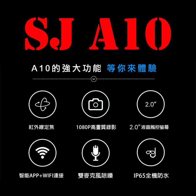 【eYe攝影】公司貨 SJCAM A10 雷射定位監控密錄器 運動攝影機 警用執法 SONY鏡頭 行車紀錄器 消費卷