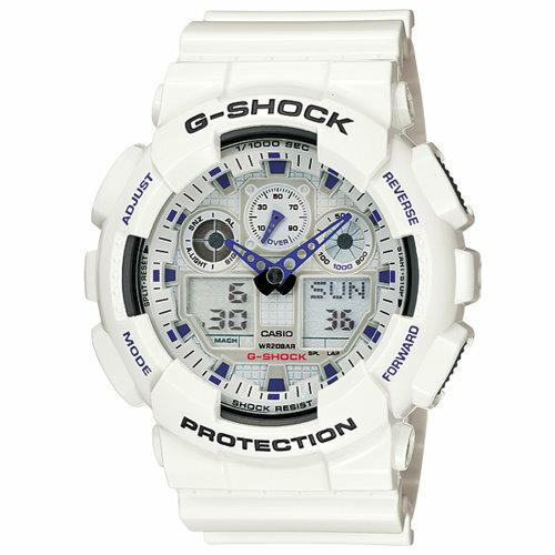 CASIO G-SHOCK/引領時尚潮流運動錶(白/GA-100A-7A)