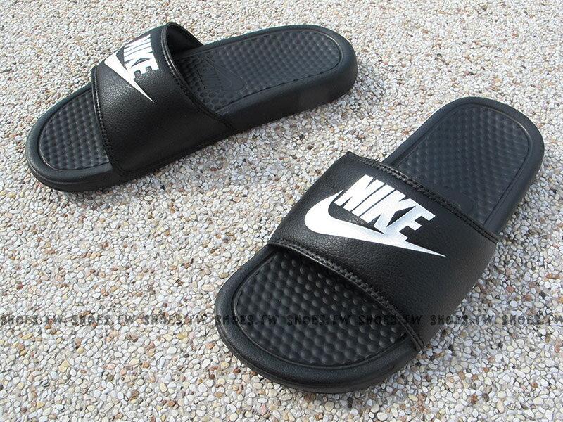 Shoestw【343880-090】NIKE BENASSI JDI 運動拖鞋 黑色 超經典 男生尺寸