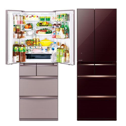 三菱525L日本原裝變頻六門電冰箱 MR-WX53Y 閃耀棕(BR) 水晶粉(P)