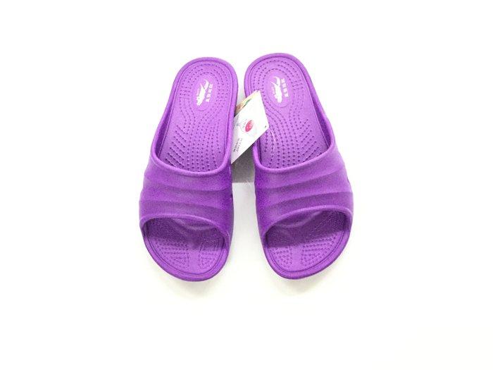※555鞋※紫色 母子鱷魚 馬卡龍色 浴室 海灘 防水 拖鞋 一體成形 氣墊 超舒適運動休閒拖鞋