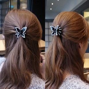 蝴蝶鑲鑽抓夾 DH5001  髮飾  頭飾  髮夾  抓夾  飾品  日韓    ABS