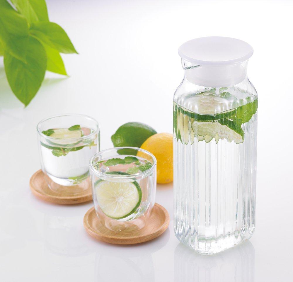【預購】Iwaki 耐熱角型玻璃瓶 1L K296K-W 水壺 冷水壺 #耐熱玻璃 冷水壺 #耐熱玻璃【星野生活王】