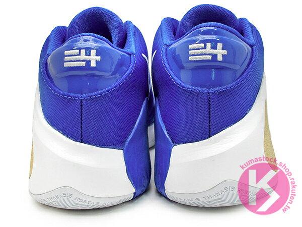 2019 最新款 Giannis Antetokounmpo 首款簽名籃球鞋 NIKE ZOOM FREAK 1 EP GREECE 藍白金 希臘 國家隊配色 後掌 ZOOM AIIR 氣墊 MVP 公鹿隊 (BQ5423-400) 1019 4