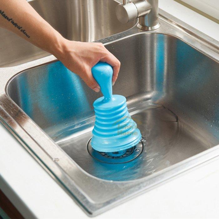 約翰家庭百貨》【CA240】水槽排水管強力疏通器 廚房浴室洗手台強力排水器 擠壓式排水清潔器 隨機出貨
