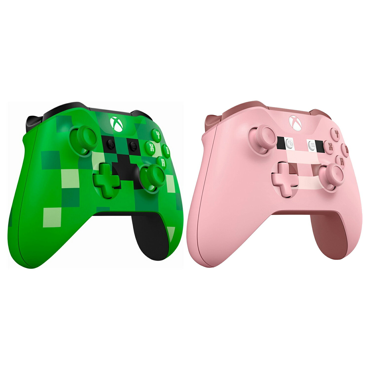 Xbox One Bluetooth Wireless Controller Minecraft Creeper and Pig Edition 1
