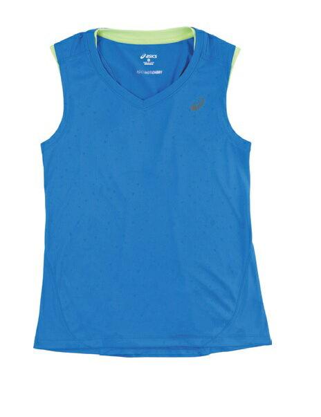 [陽光樂活]ASICS亞瑟士 -LITE-SHOW 女慢跑背心 -XXL555-8091 藍