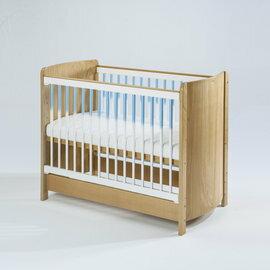 【淘氣寶寶●下標前請先提問】BendiI-LUFLEX升降碳纖管嬰兒大床-原木藍管77x144x高96cm【全配】