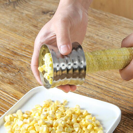 ●MYCOLOR●304不銹鋼旋轉玉米刨離器玉米刨分離器剝玉米神器玉米脫粒機創意【N439】