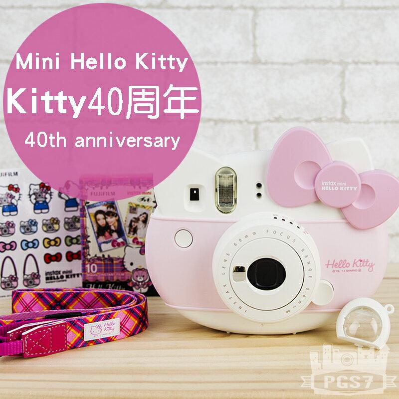 PGS7 富士 拍立得 相機 - Mini Hello Kitty 頭型拍立得 凱蒂貓 40周年紀念款 平輸 【SCF5004】