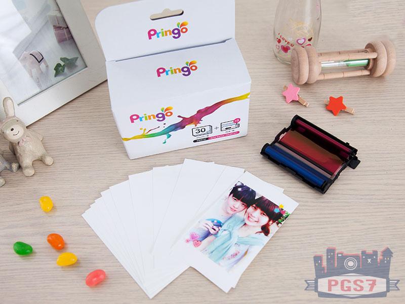 PGS7 - Pringo P231 隨身相片列印機 底片 專用相紙 30張 + 3捲色帶【SCZ5120】