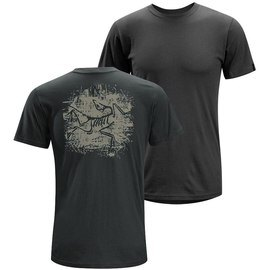 [ Arcteryx 始祖鳥 ] 9517 Distressed Bird 黑影 男款 純棉個性圓領T恤 短袖上衣 Arc'teryx