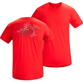 [ Arcteryx 始祖鳥 ] 10309 Multi Bird 椒紅 男款 純棉個性圓領T恤 短袖上衣 Arc'teryx