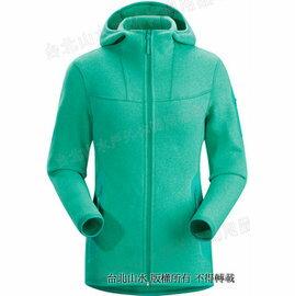 [ Arcteryx 始祖鳥 ] 保暖刷毛連帽外套 Covert Hoody 女款 15378 海琉璃綠