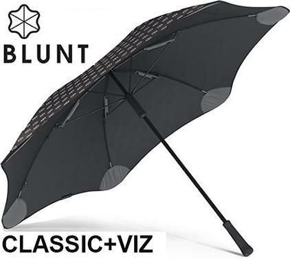 [ BLUNT ] Classic+ VIZ 保蘭特抗風雨傘/抗強風反光雨傘/直傘 大 時尚黑