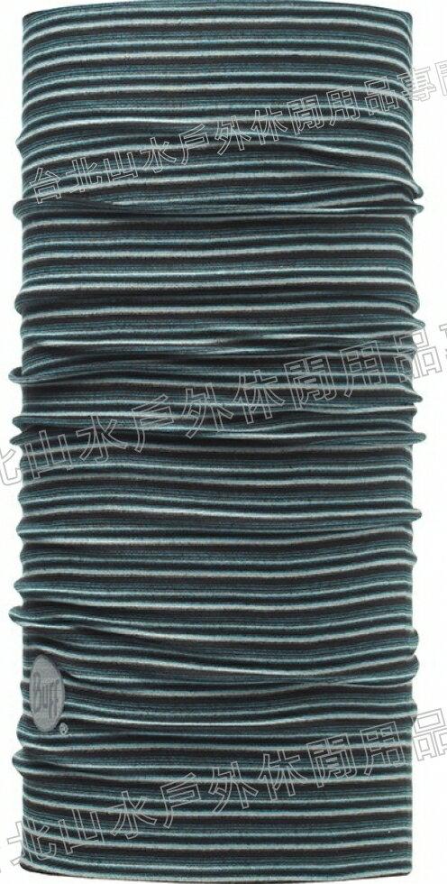 ^~ Buff ^~ 藍黑線條 ORIGINAL 西班牙魔術頭巾 排汗抗菌萬用頭巾 織色